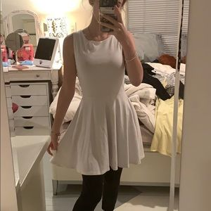 white party skater dress